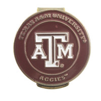Texas A&M Aggies Hat Clip with Double Sided Golf Ball Marker