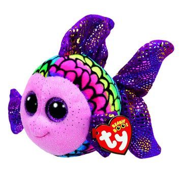 "Ty Beanie Boos 6"" 15cm Flippy Color Fish Plush Stuffed Animal Collectible Soft Big Eyes Doll Toy"