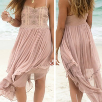 Gypsy Grace Rose Embellished Chiffon Dress