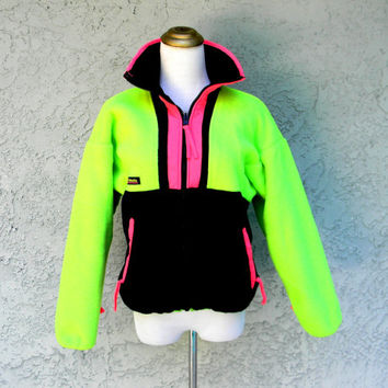 Neon Fleece Jacket Vintage 80s 90s from Dayglodiva #1: x354 q80