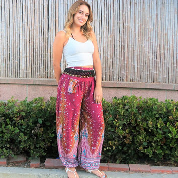 Hippie pants,yoga pants,Most popular shop item items ,boho clothing,gift woman,trending items,summer gifts for all - By PiYOYO