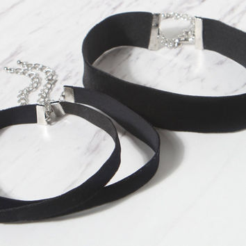 LA Hearts Velvet Choker Set at PacSun.com