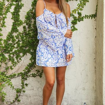 Printed With Passion Dress: Purple/White