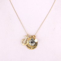 Just Follow Your Heart Necklace - Gold or Silver