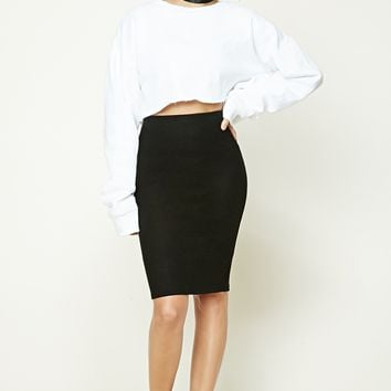 Marled Fleece Skirt