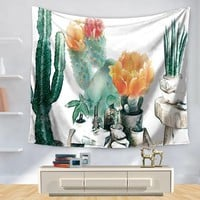 Tapestry Polyester Printed Colorful Cactus Home Decoration Wall Blankets Hanging Bohemian Decor Tapiz Pared Hippie Tapestries