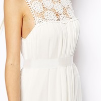 ASOS Maxi Dress With Crochet Lace Yoke