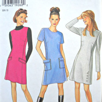 New Look 6543, Women's Dress Pattern, Sizes 6 - 16