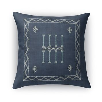 AMULET KILIM NAVY Accent Pillow By Becky Bailey