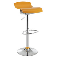Yellow ABS Contemporary Bar Stool