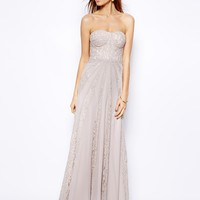 Coast Libby Maxi Dress - Silver