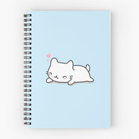 'Cute and Kawaii Cat' Spiral Notebook by happinessinatee