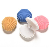 4 Colors Shell Velvet Earring Jewelry Storage Box Storage Boxes For Necklace ring earring SM6