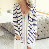Basic Stripe Cardigan