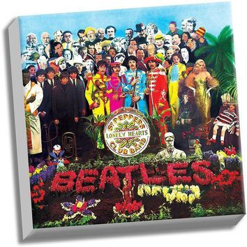 ICIKU7Q The Beatles Sgt Peppers Lonely Hearts Club Band 20x20 Stretched Canvas