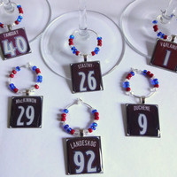 Colorado Avalanche Wine Charm Set