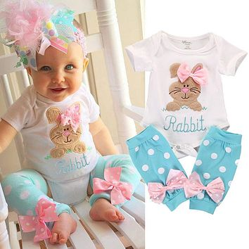 Toddler Newborn Kids Baby Girl Bodysuits Cotton Leg Warmer 2pcs Clothes Outfit Set