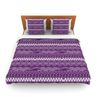 "Famenxt ""Pattern Purple"" Lavender Abstract Lightweight Duvet Cover"
