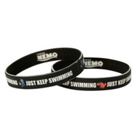 Disney Finding Nemo Just Keep Swimming Rubber Bracelet 2 Pack