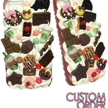 Made to Order! Starbucks Chocolate Fudge Drip Transparent Case for iPhone and Samsung