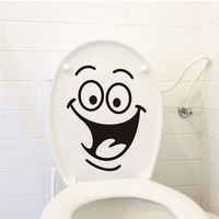 Big mouth toilet stickers wall decorations 342. diy vinyl adesivos de paredes home decal mual art waterproof posters paper
