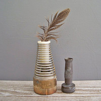 2 vintage metal brass sprinkler nozzles by KatyBitsandPieces