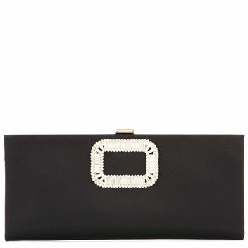 Pilgrim Small embellished satin clutch