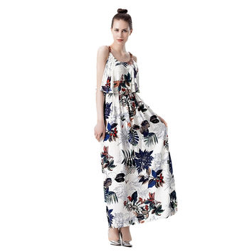 Women Strapless Long Chic Summer Dress