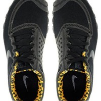Nike Free Running 5.0 V4 Black Leopard Performance Trainers at asos.com