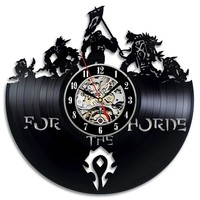 "World of Warcraft ""For the Horde"" Vinyl Record Clock"