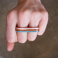 skinny Double Finger Enamel Rings | Tigertree Double Finger Enamel Rings
