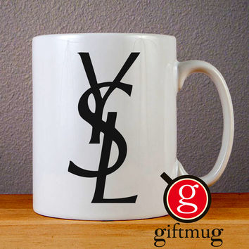 Yves Saint Laurent Ceramic Coffee Mugs