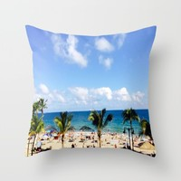 FT, Lauderdale   Throw Pillow by Annette Forlenza