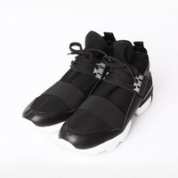 YYY Banding Monchrome Hightop Sneakers