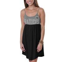 47 Brand Oakland Raiders Ladies Upperdeck Dress - Silver/Black