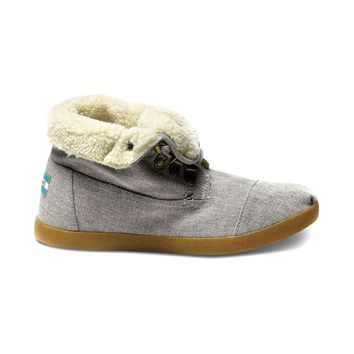Womens TOMS Botas Highlands Casual Shoe, Black Gray | Journeys Shoes