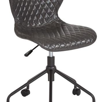 Somerset Home and Office Upholstered Task Chair in Gray Vinyl [LF-9-07-GRY-GG]