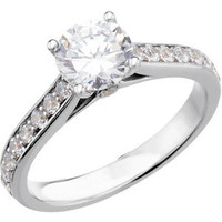 14kt White Gold 1/4 CTW Diamond Engagement Ring