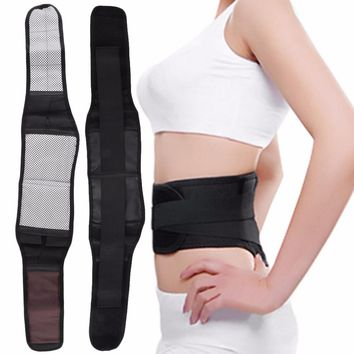 2017 Hot Magnetic Self Heating Lower Back Lumbar Waist Pad Belt Support Protector Length 109cm High Quality