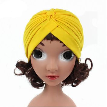 2017 new girls india hat toddler Turban cap kids beanie hats baby hats caps children dome hats for spring summer and fall
