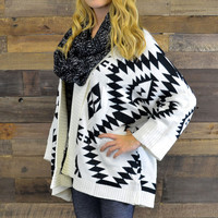 Bear Tooth Ivory Over Sized Tribal Sweater