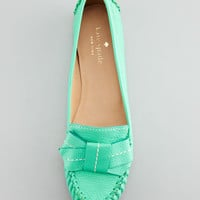 willie tumbled leather loafer, emerald green