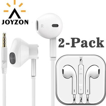 JOYZON Original 3.5mm Wired Earphone For Phone Stereo Sound Headset In-Ear Earphone With Mic White For iPhone Xiaomi Samsung