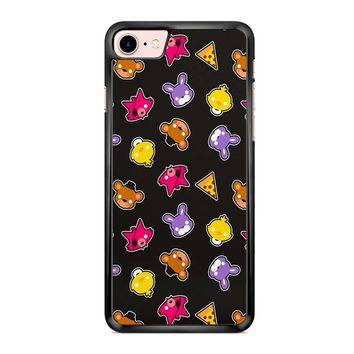 Fnaf Freddy S Faces Pattern Cute Kawaii Chibi iPhone 7 Case