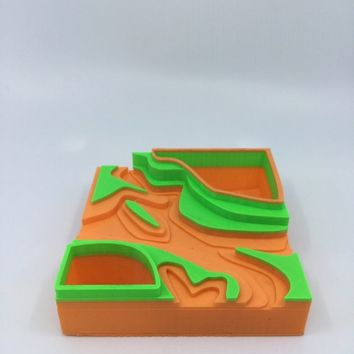 3D Printed Topography Planter, Succulent Planter, Air plant holder, Flower pot, Home Decor, Fall decor, Made in the USA