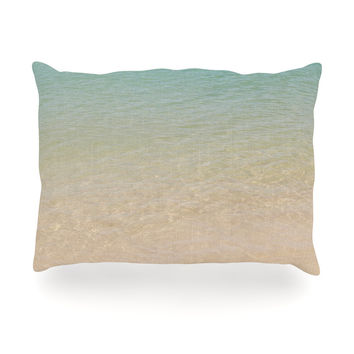 "Catherine McDonald ""Ombre Sea"" Beach Photography Oblong Pillow"