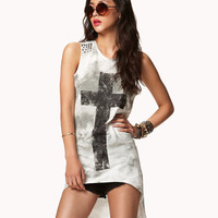 Distressed Cross High-Low Top | FOREVER21 - 2047603494