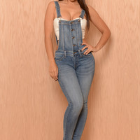 American Style Overall - Medium Wash