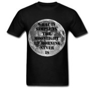 Unisex Moon Quote Tshirt by TheScarletFoxx on Etsy