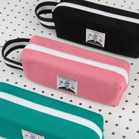 Hey you zipper pencil case with strap